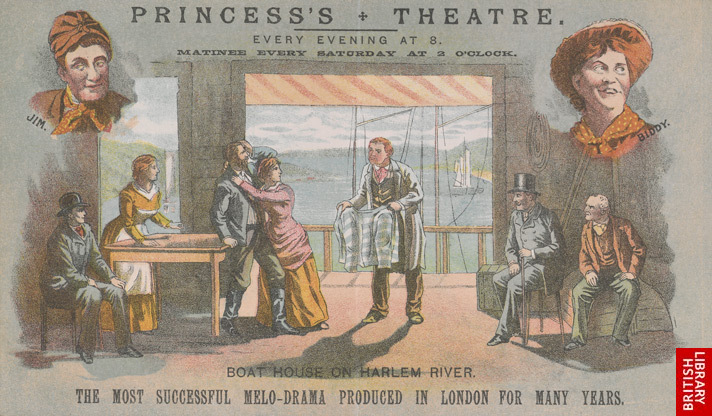 Advert for the Princess's Theatre, reverse side